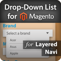 Drop down list for Magento Layered Navigation