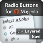 Radio Buttons for Magento Layered Navigation