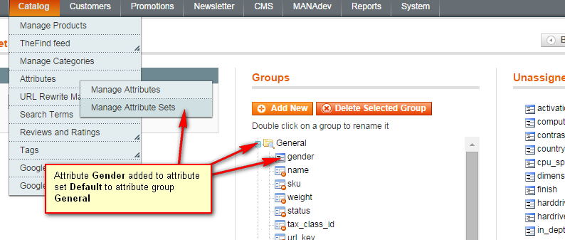 Attribute added to attribute set in Magento