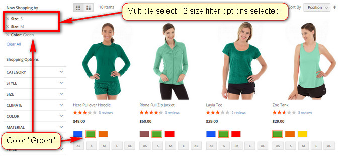 Magento2 Multiple Select Layered Navigation