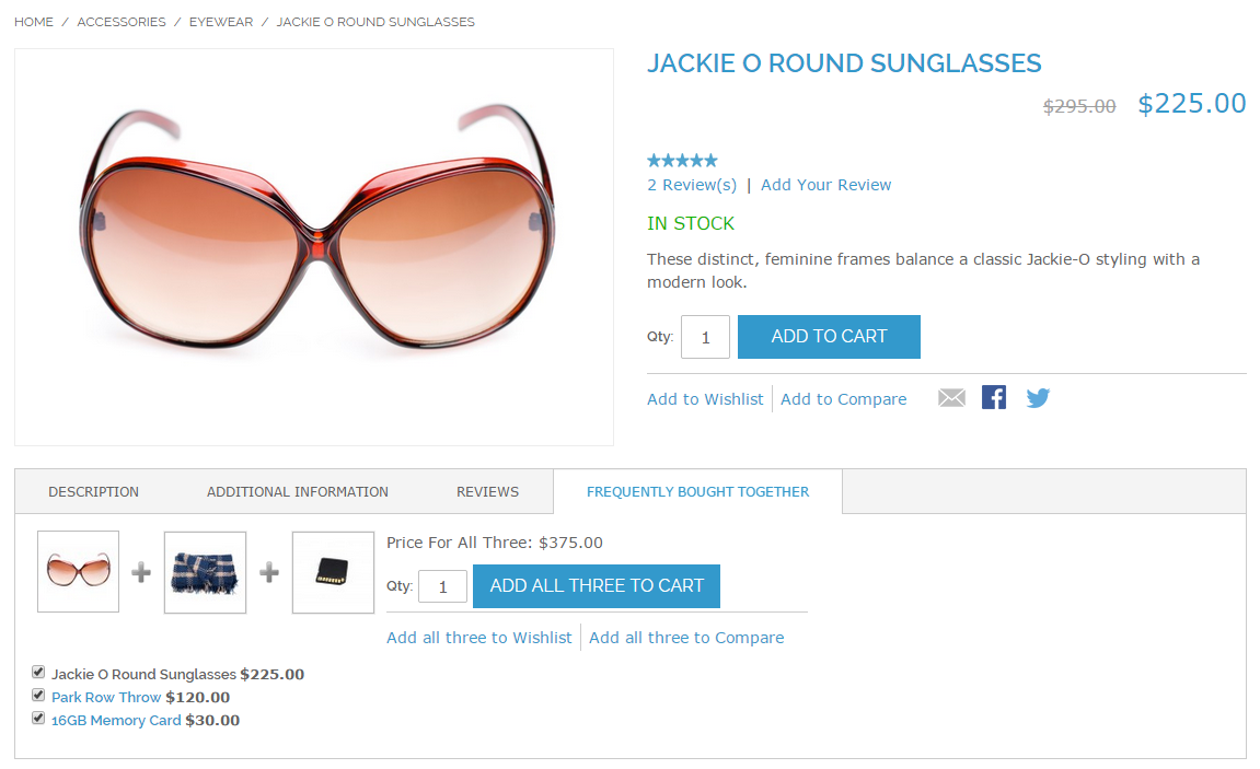Frequently Bought Together extension in Magento RWD Theme