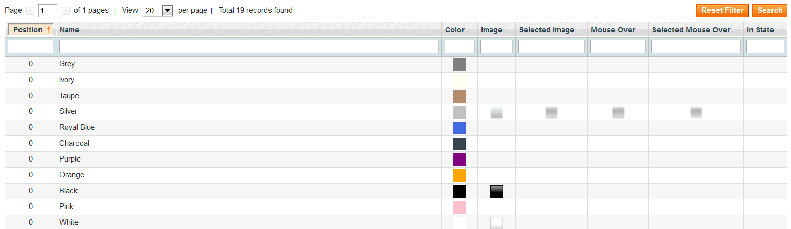Colors Picker Option Settings)