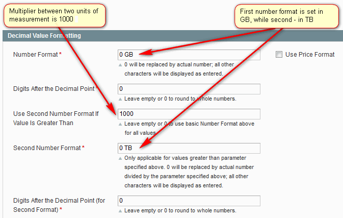 Price Slider Second Number Format Example