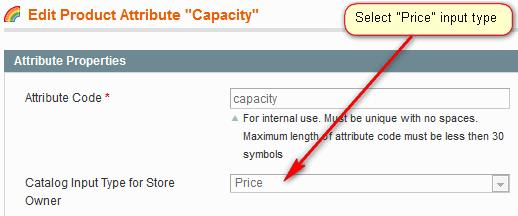 Price Type Attribute